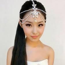 hair jewelry chain indian jewelry rhinestone headbands