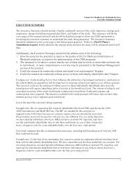 Executive Summary For Resume Examples by Executive Summary Resume Example Resume Templates