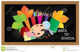 Schwarzer Schreibtisch Zurück Zu Schule Schwarzer Schreibtisch Mit Schulbedarf Und