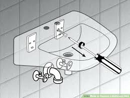 how to replace a bathroom sink faucet replace a bathroom sink womenforwik org
