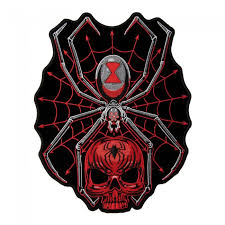 black widow spider web skull patch spider back patches