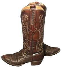 womens boots and booties lucchese brown 1883 lizard leather cowboy s