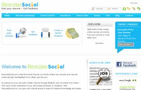 Online Resume Sites by 10 Great Social Sites For Resume Building