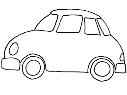 cartoon sports car black and white coloring page of cars coloring pages of cars to print