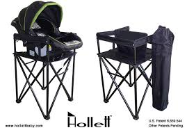 Portable Baby High Chair The New Hollett Baby Travel Highchair And Infant Carrier Stand