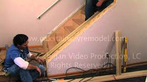 Replace Banister With Half Wall How To Install Cap Boards When Remodeling Stairs With Tread Boards