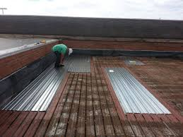 flat roof flat roof metal deck replacement commercial