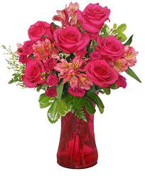 flowers for valentines day richly rosey bouquet of flowers s day flower shop