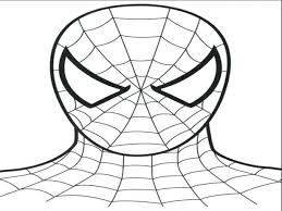 spiderman face coloring coloring