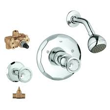 shop grohe kensington 2 handle shower faucet with valve at lowes com