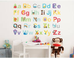Wall Letter Decals For Nursery Wall Decal Design Colourful Alphabet Decals For Walls Decor