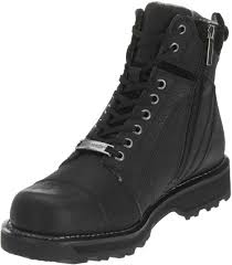 short motorbike boots harley davidson men u0027s carter black 6 00 inch motorcycle boots