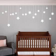 Baby Nursery Decals Hanging Stars Baby Nursery Vinyl Wall Decals Kids Bedroom