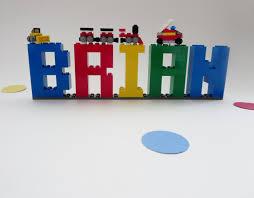 Kids Room Letters by Lego Name Sign Kids Room Decor Lego Bricks Name Letters Shelf