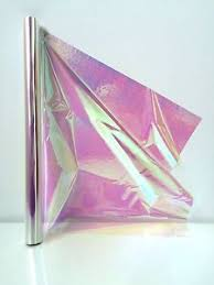iridescent wrapping paper cellophane iridescent 1m length folded 50cm wide rainbow effect