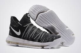 cheap nike kd 10 shoes oreo in black white sale new