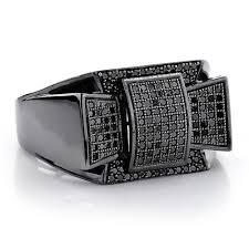 mens black diamond earrings diamond jewelry mens diamond ring 0 61ct