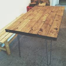Hairpin Leg Dining Table Hairpin Dining Table Dining Table With Hairpin Legs Butcher Block