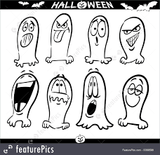 Halloween Ghost Coloring Pages by Halloween Halloween Ghosts Emoticons For Coloring Stock
