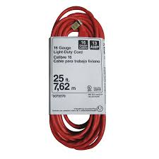 shop utilitech 25 ft 13 amp 125 volt 1 outlet 16 orange