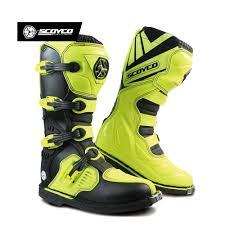 waterproof motocross boots scoyco waterproof pu motorcycle boots motocross off road racing