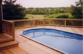 walls interiors grecian in ground swimming pools with wooden