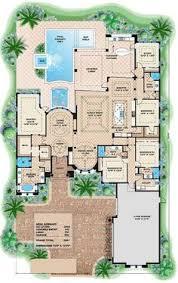 1 Story 4 Bedroom House Floor Plans U Shaped House Floor Plans Shaped House Plans With Courtyard