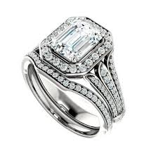 bridal sets uk 1 50 ct forever brilliant moissanite diamond wedding set bridal