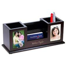 Personalized Desk Organizer Multi Function Desk Organizer With Photo Frames