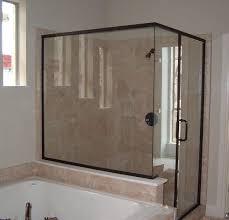 Frame Shower Door Black White Tile Wall Decor White Pattern Wall Brown Wall White