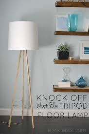West Elm Tripod Table West Elm Inspired Tripod Floor Lamp Knock Off Decor Series