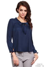 navy blue blouse navy blue cut out bow tie blouse with sleeves