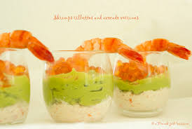 cuisine verrine shrimps rillettes and avocado verrines recipe