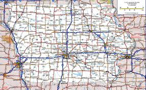 Maine Road Map Iowa Highway