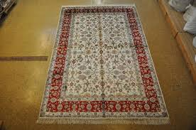 Silk Area Rugs Picture 32 Of 50 Area Rug 6x9 6 X 9 White Tabriz