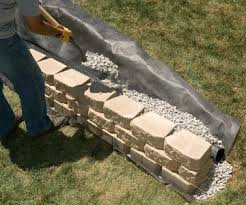 retaining walls into a slope retaining wall building