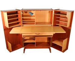Compact Office Desks Teak And Sycamore Compact Home Office Desk And Storage Modernism