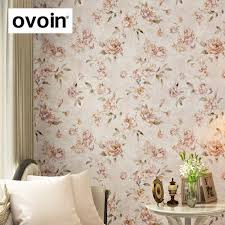 aliexpress com buy pink vintage floral wallpaper flower peony