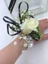 Wedding Flowers Cork Beautiful White Rose Wrist Corsage On A Gorgeous Pearl Bracelet