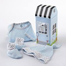 keepsake baby gift welcome home baby 3 layette set in keepsake gift box blue