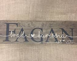 wedding gift name sign rustic wedding signs etsy