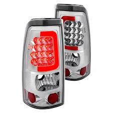 2001 silverado tail lights lumen chevy silverado 2001 2002 chrome fiber optic led tail lights