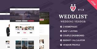 wedding vendor websites weddlist wedding vendor directory html template by udayraj