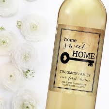 New Home Gift by Housewarming Gift New Home Wine Label Custom Wine Label