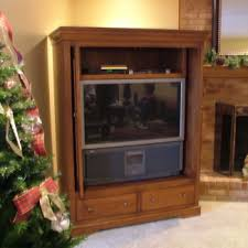 Entertainment Armoire With Pocket Doors Custom Cabinetry Stigler U0027s Woodworks Cincinnati Oh