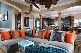 blue and gray sofa pillows summer color combinations ideas trends gray comfy sectional