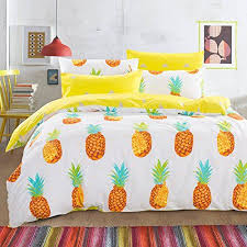 6pc cotton pineapple duvet cover u0026 sheets bedding set design