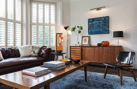 bay window furniture living room midcentury with chesterfield sofa
