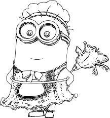 minion cleaner coloring page wecoloringpage