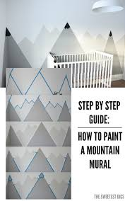 how to paint a diy mountain mural no art skills required the looking for an amazing kids room or nursery decor idea diy this painted mountain range